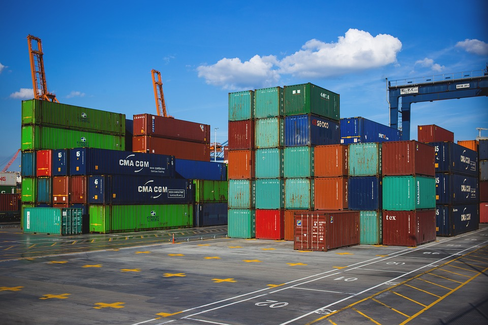 Port, Pier, Cargo Containers, Crate, Export, Freight
